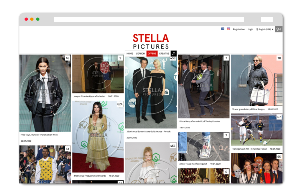 Stella Pictures Website