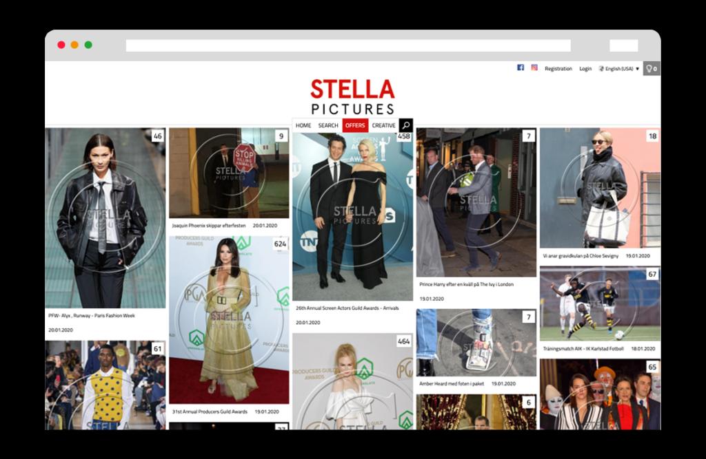 Stella Pictures Website